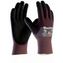 ATG MaxiDry 3/4 Coated Oil Repellent 56-425 Gloves (Size 9 Large)