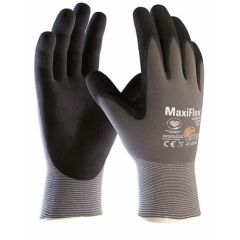 ATG MaxiFlex Ultimate AD-APT Palm Coated Knitted Wrist Work Gloves (Size 9 Large)