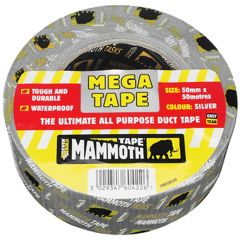 Mammoth Mega All Purpose Tape 50mmx50m Silver