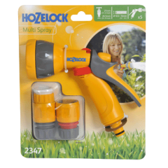 Hozelock Multi Pattern Spray Gun Starter Set With Fittings 2347