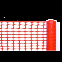 Orange Barrier Poly Fencing (50m Roll)