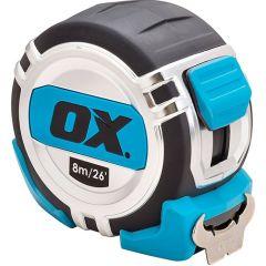 Ox Pro Heavy Duty 8m Tape Measure Metric/Imperial - OX-P028708