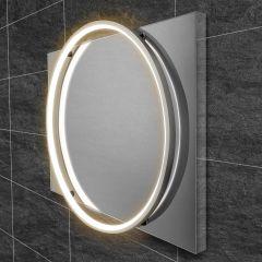 HIB Solas 50 LED Bathroom Mirror (Chrome Frame)
