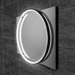 HIB Solas 50 LED Bathroom Mirror (Black Frame)