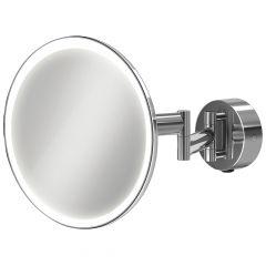 HIB Eclipse Round LED Extending Bathroom Mirror