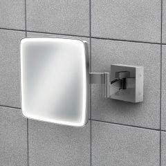 HIB Eclipse Square LED Extending Mirror