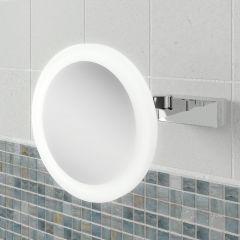 HIB Libra Round Extending Bathroom Mirror