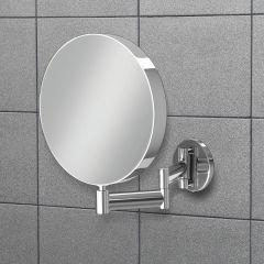 HIB Helix Round Extending Bathroom Mirror