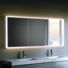 HIB Qubic 120 Mirrored Bathroom Cabinet