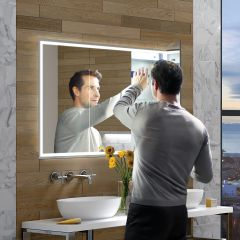 HIB Vanquish 120 Mirrored Bathroom Cabinet