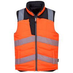 Portwest Hi-Vis Body Warmer - Orange/Black