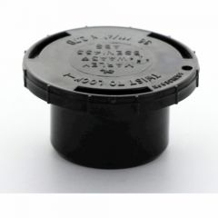 Hunter Solvent Weld ABS Access Plug Black 32mm - WAA3B