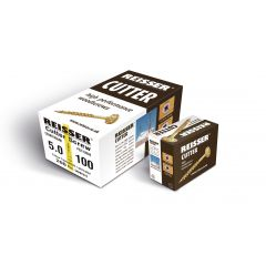 Box 100 Reisser R2 Cutter Yellow H/P Wood Screw 6.0x80mm