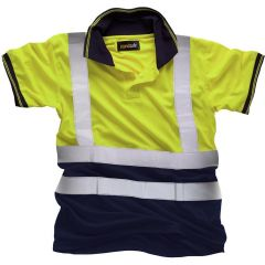 Standsafe HV031 Hi Vis Two Tone Polo Yellow M