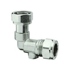 "15mm x 1/2"" Chrome Plated Service Valve Angled"