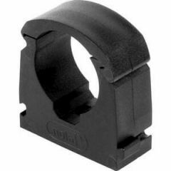 Talon Single Hinged Pipe Clip Black 15mm (Bag of 20) - TSB15/20