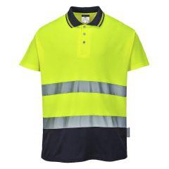 TPPW174P-1-Portwest-Polo-Shirt-Yellow-Navy