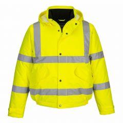 TPPW213P-1-Portwest-Hi-Vis-Bomber- Jacket -Yellow