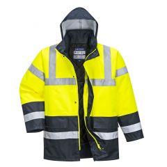 TPPW210P-1-Portwest-Hi-Vis-Traffic-Coat- Yellow