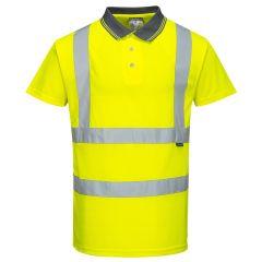 TPPW165P-1-Portwest-Hi-Vis-Polo-Shirt-Yellow