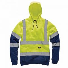 Dickies High Visibility Two Tone Hoodie SA22095 Yellow/Navy Medium