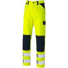 Dickies Everyday Hi Vis Two Tone Trousers Yellow - SA247