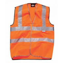Dickies Highway Safety Waistcoat EN471 Class 2 Orange Size S - SA30310