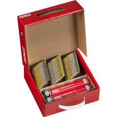 Senco Gas & Nail Pack 3.1 x 90mm Galv Smooth