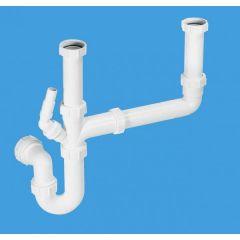 "McAlpine SK2 Double Bowl Sink Kit 1.1/2"" x 75mm Seal (Single Nozzle)"
