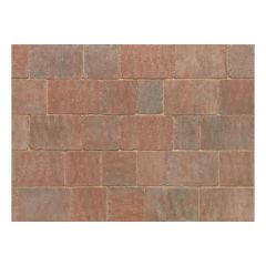 Stonemarket Trident Rumbled Concrete Block Paving-Sierra-160x160x50mm