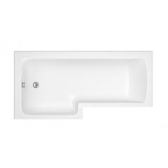 Trojan Solarna L-Shaped Shower Bath 1700x850x700mm - No Tap Holes (Left Hand)