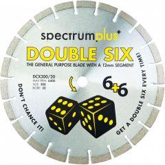 Spectrum DCX300/20 Double Six Plus General Purpose 300mm Diamond Blade