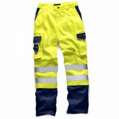 TCSS157P-1-Standsafe-Hi-Vis-HV039-Work-Trousers-Yellow