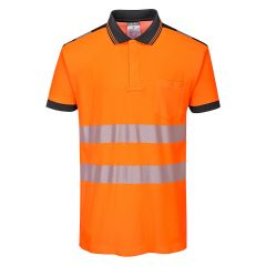 TPPW126P-1-Portwest-Hi-Vis-Polo-Shirt- Orange/Black