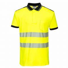 TPPW125P-1-Portwest-Hi-Vis-Polo-Shirt-Yellow/Black