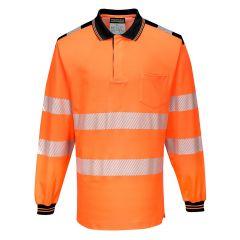 TPPW120P-1-Portwest-Hi-Vis-Polo-Shirt- Orange/Black