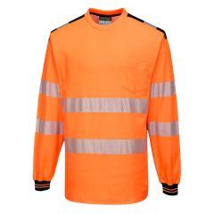 TPPW132P-1-Portwest-Hi-Vis-Long-Sleeve-Top-Orange/Black