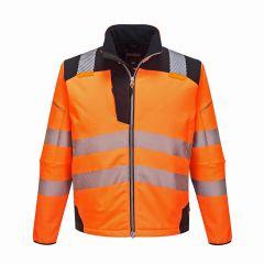 TPPW094P-1-Portwest-Hi-Vis-Softshell-Jacket-Orange/Black