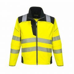 TPPW093P-1-Portwest-Hi-Vis-Softshell-Jacket-Yellow/Black