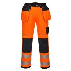 TPPW112P-1-Portwest-Hi-Vis-Holster-Work-Trousers-Orange/Black