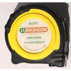 JT Atkinson Tape Measure 8m