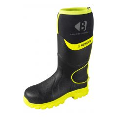 Buckbootz Hi-Vis Safety Wellington Boots (Black/Yellow) BBZ8000 BK YL
