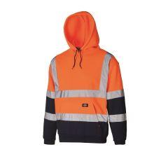 Dickies High Visibility Two Tone Hoodie SA22095 Orange/Navy L