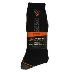 Regatta Tactical Workwear Socks, 3 Pack – Black