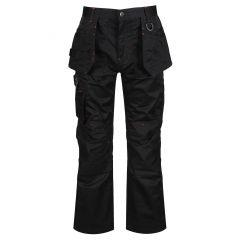 Regatta Men's Incursion Workwear Work Trousers – Black (TRJ387R 800) front