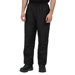 Regatta Men's Linton Waterproof Breathable Overtrousers – Black (TRW458R)