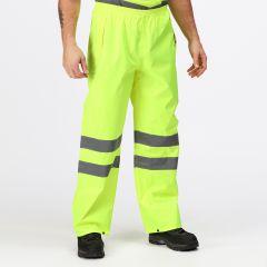 Regatta Men's Hi-Vis Pro Packaway Trousers – Yellow (TRW498)