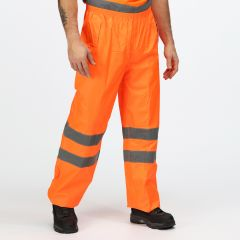 Regatta Men's Hi-Vis Pro Packaway Trousers – Orange (TRW498)