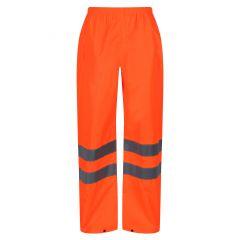 TCRE099P-1-Regatta-Hi-Vis-Packaway-Trousers-Orange