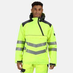 Regatta Men's Hi-Vis Overhead Bomber Jacket – Yellow/Grey (TRA316 9PQ60)